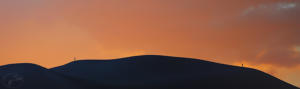 CO Sand Dunes Silhouette Sunset